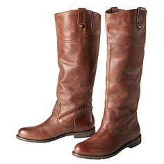 I really want a pair of tall, brown  leather boots.
