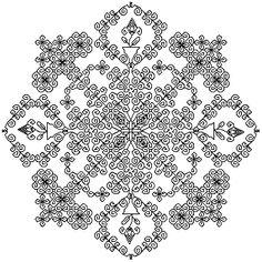 Blackwork Mandala.