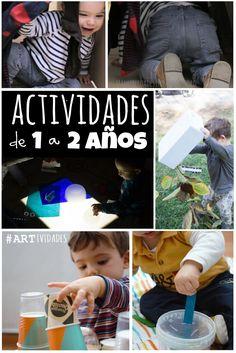 #actividades fáciles y creativas para niños de #preescolar Planes sencillos divertidos y creativos para niños de uno a dos años