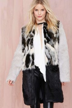 Glamorous Tone Up Faux Fur Coat | Shop Clothes at Nasty Gal