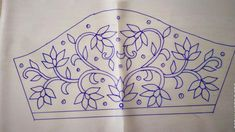 Peacock Embroidery Designs, Latest Embroidery Designs, Hand Embroidery Design Patterns, Bead Embroidery Tutorial, Hand Embroidery Videos, Embroidery Motifs, Creative Embroidery, Maggam Work Designs, Decoupage