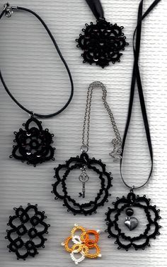 Needle Tatting Instructions | Needle tatting pendants