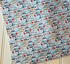 Riley-Blake-Designs-Fabric-By-The-Yard-Holiday-Mini-Cars-Blue-Yellow-Red-Fat-Quarters-Sewing-DIY-Projects-Crafts-Supplies by InspiringDesignDIY on Etsy
