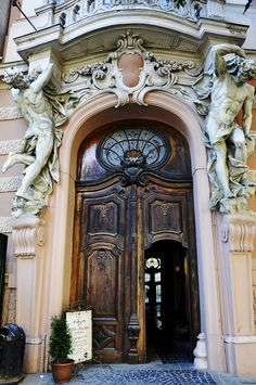 The entrance of Casino of Nobles, Lviv