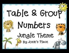Table and Group Numbers for your classroom!
