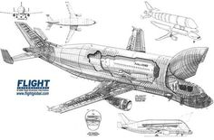 Cargo Aircraft, Military Aircraft, Avion Cargo, Aviation Engineering, Plane Drawing, Commercial Plane, Aviation Industry, Aircraft Design, Cutaway