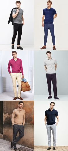 Knitted Polo Shirts Men's Fashion & Style Outfit Inspiration Lookbook