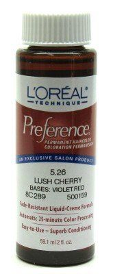 L'Oreal Preference Color - 5.26 Lush Cherry (3-Pack) with Free Nail File ** See this great product.