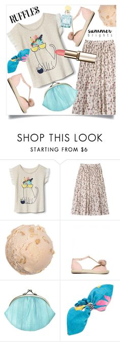 """Ruffled top"" by wuteringheights ❤ liked on Polyvore featuring BeckSöndergaard, Isolda and Miu Miu"