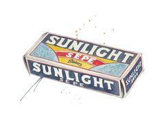 """Sunlight"" (Vintage norwegian soap)  Copyright: Emmeselle.no  Illustration by Mona Stenseth Larsen"