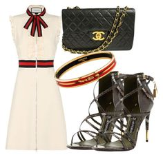 """Mean Green "" by stylishsirenofficial on Polyvore featuring Gucci, Tom Ford, Chanel and Hermès"