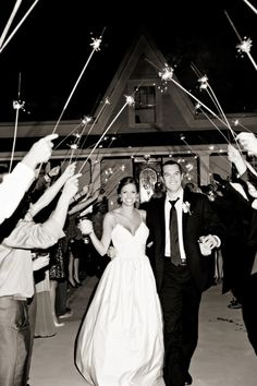 Sparklers as a Wedding Send Off