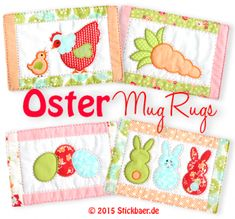 Oster Mug Rugs ITH