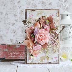 Handmade by Aleksa Kras: шебби-шик Shabby Chic Karten, Shabby Chic Cards, Mixed Media Cards, Quilling Patterns, Beautiful Handmade Cards, Scrapbook Cards, Scrapbooking, Mothers Day Cards, Vintage Crafts