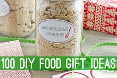 100 DIY Food Gift Ideas. Please repin!