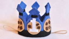 Cookie Monster First Birthday Crown & Cookie by SnuggleBands