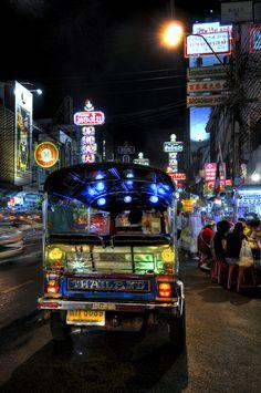 Tuk Tuk in Bangkok Chinatown