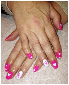 Gelish nails for Breast Cancer Pinktober