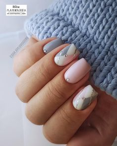 90 Everyday Nail Art Ideas 2019 in our App. Daily ideas of manicure and nail design. Gorgeous nails always! Nail Polish Designs, Cute Nail Designs, Acrylic Nail Designs, Nails Design, Acrylic Nails, White Nails, Pink Nails, My Nails, White Glitter