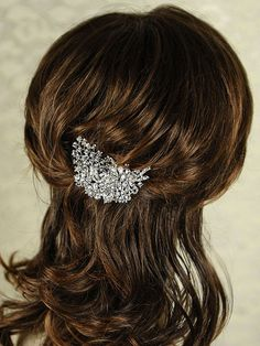 POSY  Wedding Hair Comb Sparkly Vintage Style by GlamorousBijoux, $55.00