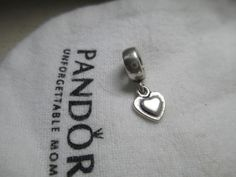 e5312d0b0 Authentic Retired Pandora Sterling Silver Heart Dangle Bead 790373. Free  shipping and guaranteed authenticity on