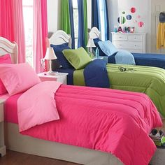 Good Color Pallet for all three kids in one room:)