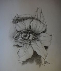 My eye by jenna marie rosset eye pencil sketch, flower pencil drawings, eye drawings Cool Art Drawings, Pencil Art Drawings, Art Drawings Sketches, Eye Drawings, Drawing Eyes, Realistic Drawings, Drawing Stuff, Art Illustrations, Eye Pencil Drawing