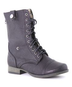 Look what I found on #zulily! Black Stud Tori Boot by Bella Marie #zulilyfinds