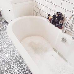 big bath & statement tiles!
