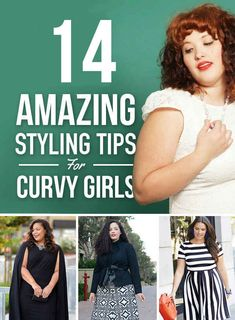 14 Amazing Styling Tips For Curvy Girls Daughter says, is she pregnant? Me no, she's fat, like me.