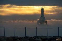 Lighthouse in Lake Michigan, Port Washington, WI, Feb. 13, 2015.................For Sabrina Danielle Davis Yatckoske
