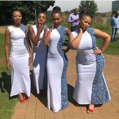 Fashion shweshwe Archives ⋆ Page 6 of 17 ⋆ African Bridesmaid Dresses, African Wedding Attire, Bridesmaid Dresses 2018, African Wear Dresses, Latest African Fashion Dresses, African Attire, African Traditional Wedding Dress, Traditional Wedding Attire, Sesotho Traditional Dresses