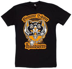 Gimme Some Halloween! This Black Cat / Motorhead mash up will keep everything spookier than everything else. Orange and white artwork printed on soft, black unisex tees. Fit S, Artwork Prints, Vest Jacket, Dumb And Dumber, Hooded Sweatshirts, Unisex, Halloween, Tees, Mens Tops