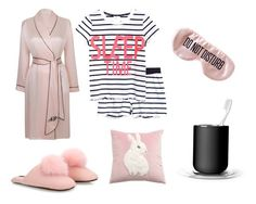 """Fancy Sleep.....zzzzzzzzzzzzzz"" by charlottemcharg on Polyvore featuring Minnie Rose, Agent Provocateur, Menu and BaubleBar"