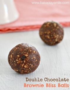 Double Chocolate Brownie Bliss Balls