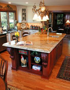 I dream of a big kitchen like this that all my family can sit around in and I can cook delicious meals in. But in the meantime I'll enjoy the small cozy one that already has so many memories made.