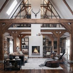 Industrial and vintage lofts to the east PLANETE DECO a homes world Lofts, Loft Design, House Design, Loft Industrial, Loft Stil, A Frame Cabin, Living Room Inspiration, Daily Inspiration, Rustic Farmhouse