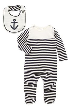 Nordstrom Baby Romper & Reversible Bib (Baby Boys) available at #Nordstrom