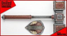 Dain Ironfoot's hammer United Cutlery, Movie Props, Self Defense, Roots, Weapons, Campaign, The Unit, Weapons Guns, Guns