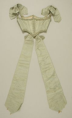 Bodice  Date: 1863–67 Culture: American Medium: silk Dimensions: Length at CB (including streamer): 42 in. (106.7 cm)