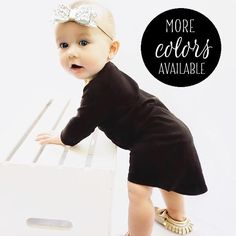Maxi Dress, Toddler Dress, Baby Dress, Girls Dress, Long Sleeve Black Maxi Dress, Kids Clothing, Pick A Color, Sizes Infant to Size 6
