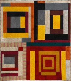 Gee's Bend adaptation quilt by Debby Kratovil : February 2013 Benefit Quilt Sale.
