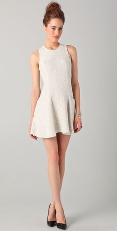 H has some really great picks for high neckline dresses this spring. cleavage is sooo last season.