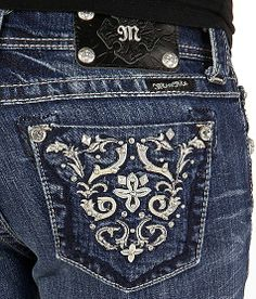 Miss Me Embroidered Boot Stretch Jean #buckle #fashion www.buckle.com