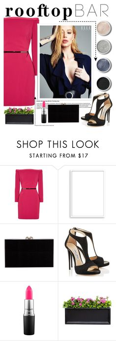 """""""Rooftop like we're bringing 88 back """" by iconsoffashion ❤ liked on Polyvore featuring Halston Heritage, Bomedo, Charlotte Olympia, Terre Mère, MAC Cosmetics, Campania International, polyvoreeditorial, summerdate, iconsoffashion and rooftopbar"""