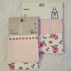 Floral Apron And Tea Towels From Ikea.