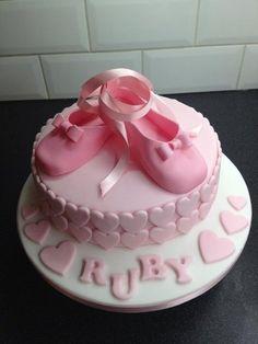 Ballet shoe birthday cake