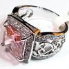 Trendy Pink Kunzite 925 Sterling fashion Silver Gemstone ring 371 sizes #6 7 8 9Item specifics Rings Type: With Side Stones Setting Type: Channel setting Gender: Unisex Ring Main Material: Silver Plated