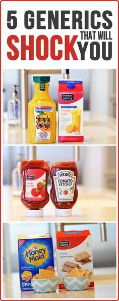 5 Surprising Generic Foods That Taste as Good as Name Brand