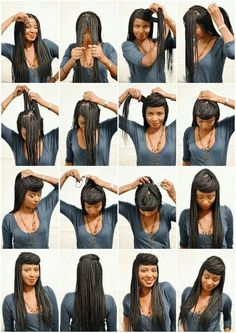 Box Braid Bang | 21 Awesome Ways To Style Your Box Braids And Locs